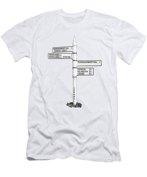 Cornish Signpost Perranwell  Men's T-Shirt (Athletic Fit)
