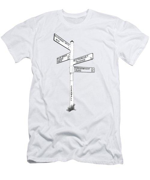 Cornish Signpost Restronguet Men's T-Shirt (Athletic Fit)