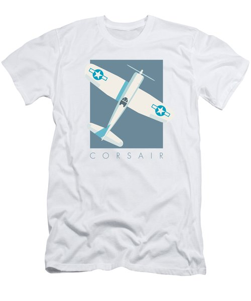 Corsair Fighter Aircraft - Slate Men's T-Shirt (Athletic Fit)