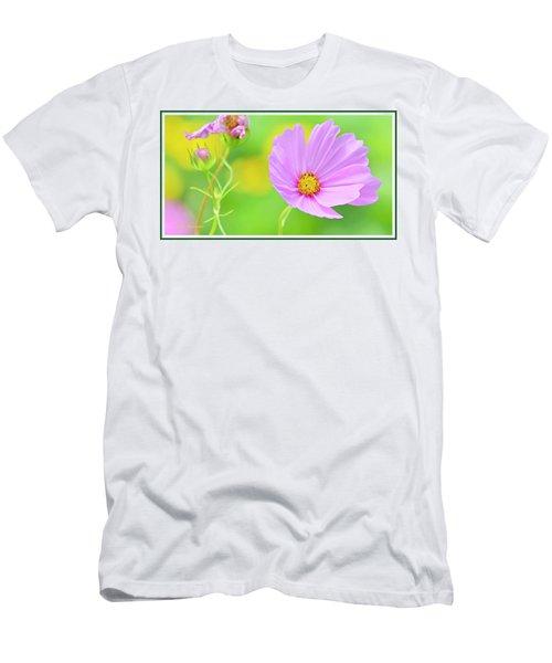 Cosmos Flower In Full Bloom, Bud Men's T-Shirt (Athletic Fit)