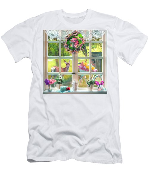 Country Cottage Painting Men's T-Shirt (Athletic Fit)