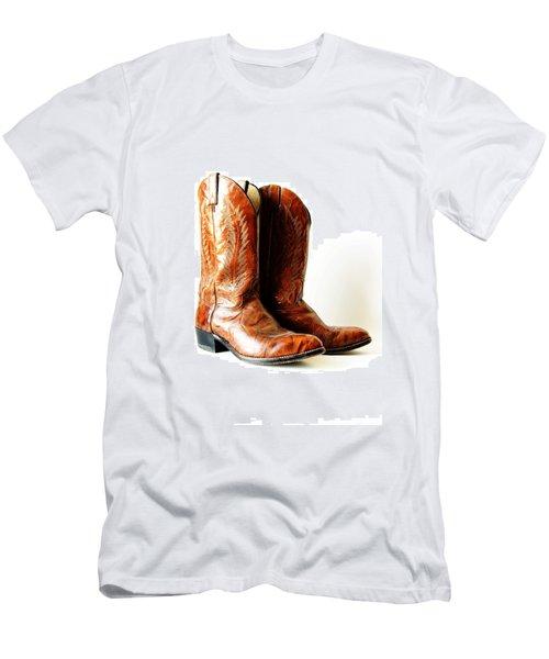 Cowboy Boots Men's T-Shirt (Athletic Fit)