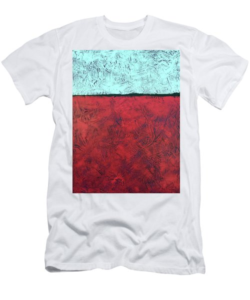 Crimson Earth Meets Pearl Sky Men's T-Shirt (Athletic Fit)