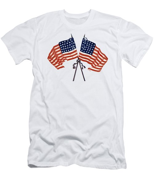 Crossed Civil War Union Flags 1861 - T-shirt Men's T-Shirt (Athletic Fit)