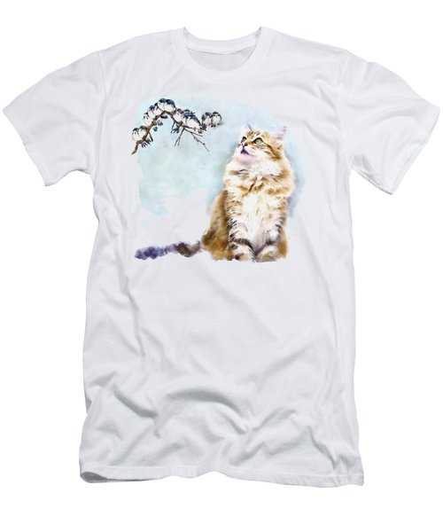 Cute Cat On The Lurk Men's T-Shirt (Athletic Fit)