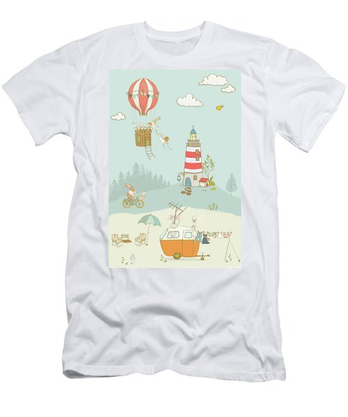 Men's T-Shirt (Athletic Fit) featuring the photograph Cute Whimsical Animals For Kids by Matthias Hauser
