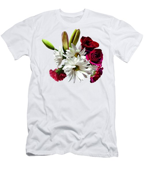 Daisies, Roses And Carnations Men's T-Shirt (Athletic Fit)