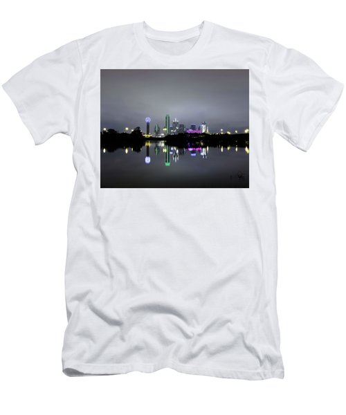Dallas Texas Cityscape River Reflection Men's T-Shirt (Athletic Fit)
