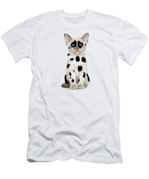 Dalmatian Cat Men's T-Shirt (Athletic Fit)