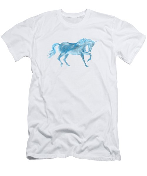 Dancing Blue Unicorn Men's T-Shirt (Athletic Fit)