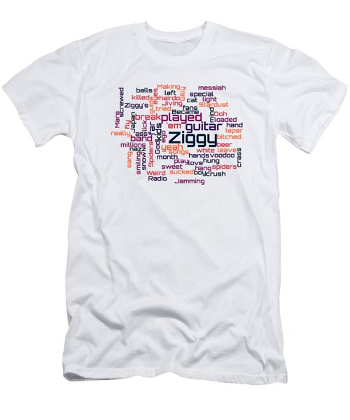 David Bowie - Ziggy Stardust Lyrical Cloud Men's T-Shirt (Athletic Fit)
