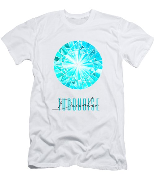December Birthstone - Turquoise Men's T-Shirt (Athletic Fit)