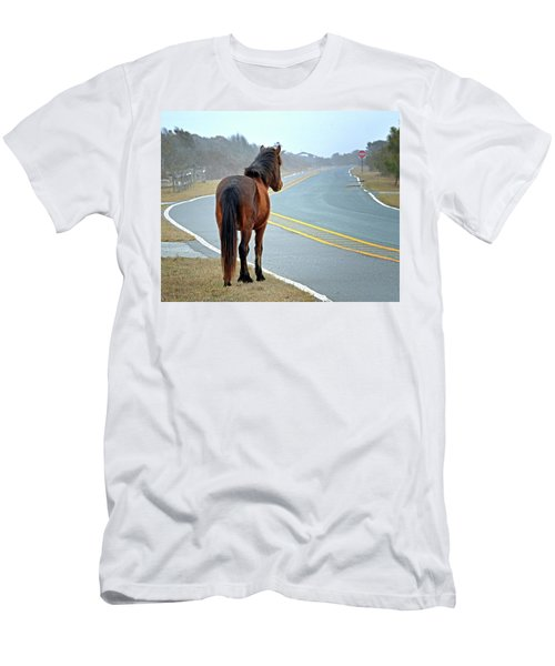 Delegats's Pride Looking For Visitors To Assateague Island Men's T-Shirt (Athletic Fit)