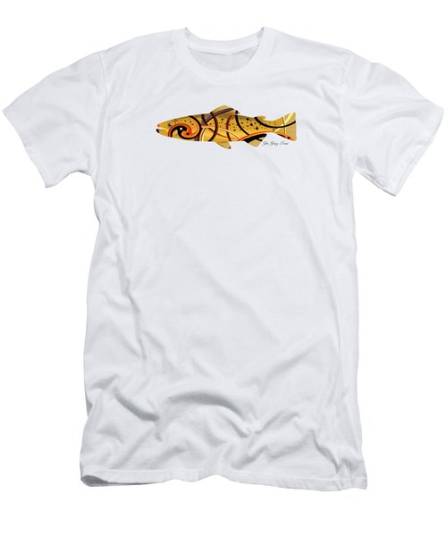 Mystic Trout- Yin And Yang Men's T-Shirt (Athletic Fit)