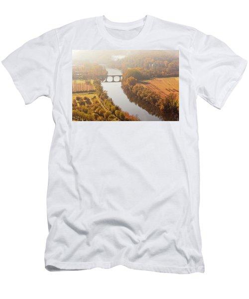 Dordogne River In The Mist Men's T-Shirt (Athletic Fit)