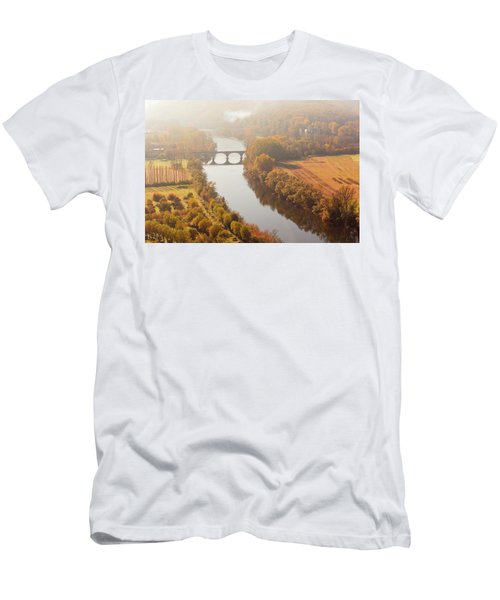 Men's T-Shirt (Athletic Fit) featuring the photograph Dordogne River In The Mist by Mark Shoolery