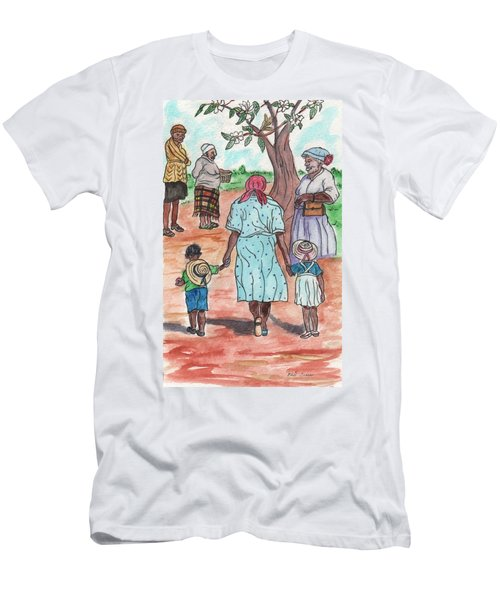 Down The Red Road And Past The Magnolia Tree Men's T-Shirt (Athletic Fit)