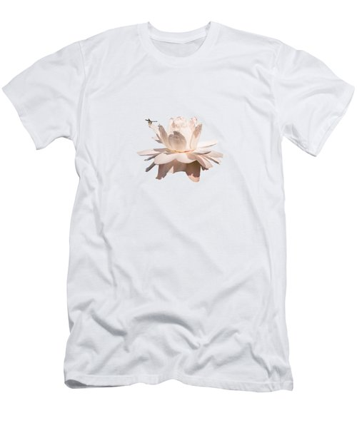 Dragonfly On Giant Victoria Cruziana Waterlily  Men's T-Shirt (Athletic Fit)