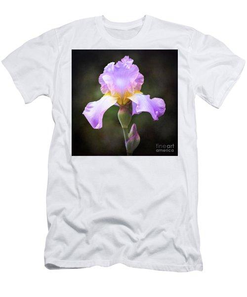 Dramatic Purple Iris Men's T-Shirt (Athletic Fit)