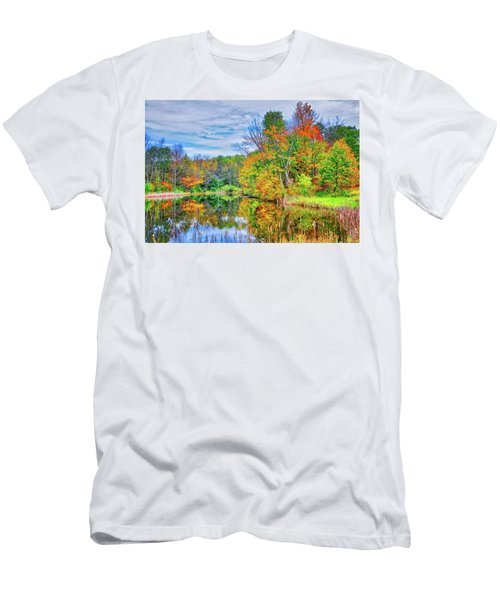 Men's T-Shirt (Athletic Fit) featuring the photograph Dreams Of Fall In The Finger Lakes by Lynn Bauer