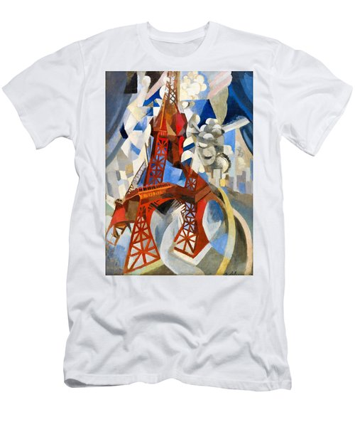 Digital Remastered Edition - Red Tour Eiffel Men's T-Shirt (Athletic Fit)