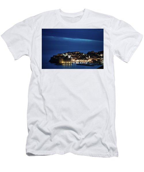 Dubrovnik Old Town At Night Men's T-Shirt (Athletic Fit)