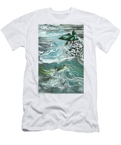 Duck At The River Men's T-Shirt (Athletic Fit)
