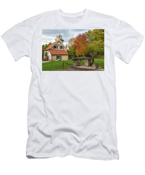 Men's T-Shirt (Athletic Fit) featuring the photograph Eagle Bluff Lighthouse by Adam Romanowicz