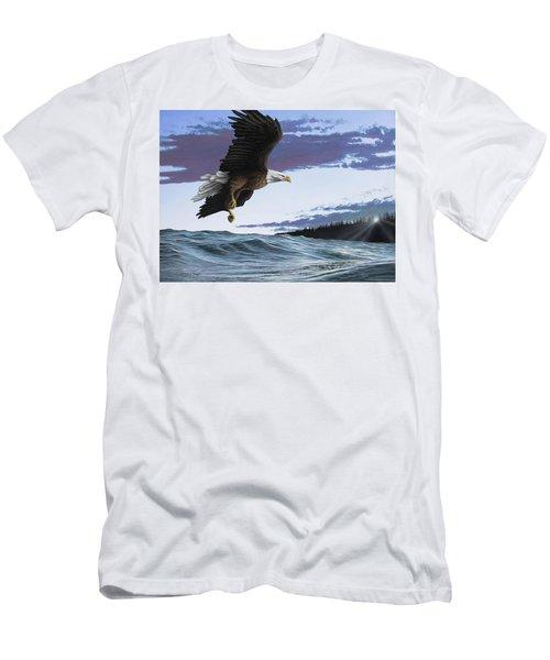 Eagle In Flight Men's T-Shirt (Athletic Fit)