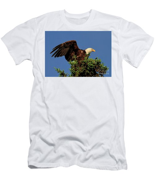 Eagle In Treetop Men's T-Shirt (Athletic Fit)