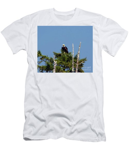 Eagle On Top A Tree Men's T-Shirt (Athletic Fit)