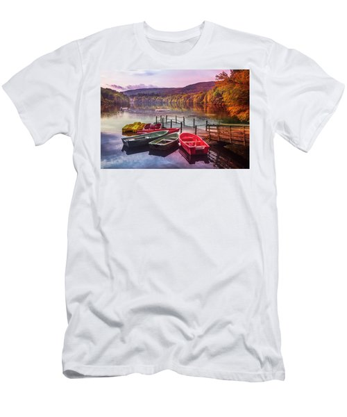 Early Fall At The Lake In Pitlochry Men's T-Shirt (Athletic Fit)