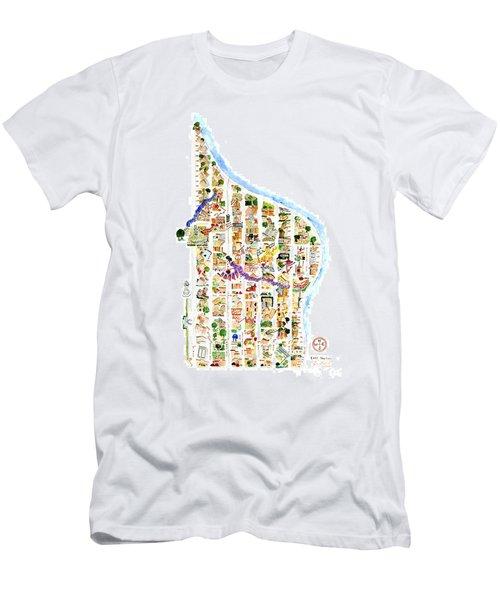 East Harlem Map Men's T-Shirt (Athletic Fit)
