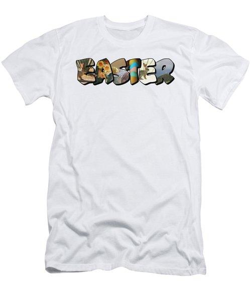 Easter Big Letter Men's T-Shirt (Athletic Fit)