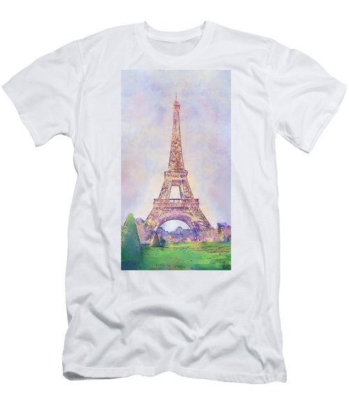 Eiffel Tower In The Afternoon, Paris, France Men's T-Shirt (Athletic Fit)