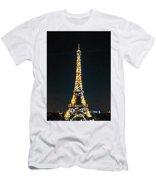 Men's T-Shirt (Athletic Fit) featuring the photograph Eiffel Tower by Randy Scherkenbach