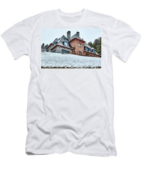 Men's T-Shirt (Athletic Fit) featuring the photograph El Messidor Residence In Villa La Angostura by Eduardo Jose Accorinti