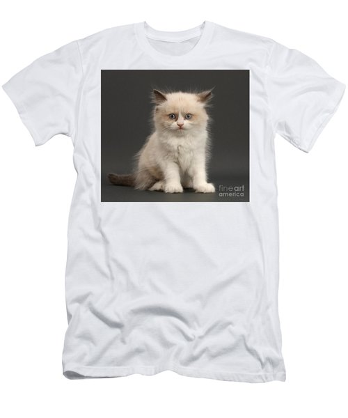 Men's T-Shirt (Athletic Fit) featuring the photograph Electric Kitten by Warren Photographic