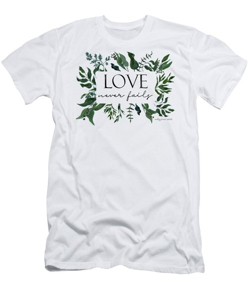 Emerald Wild Forest Foliage 2 Watercolor Men's T-Shirt (Athletic Fit)