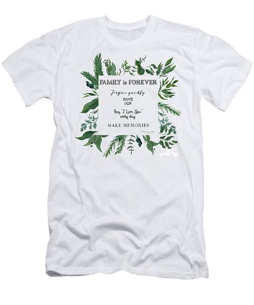 Emerald Wild Forest Foliage 3 Watercolor Men's T-Shirt (Athletic Fit)