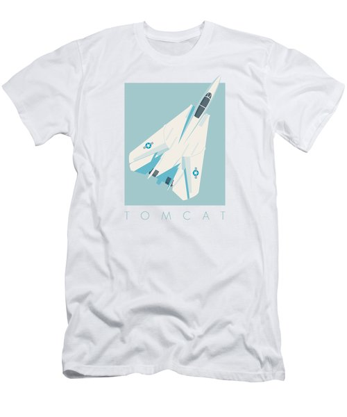 F14 Tomcat Fighter Jet Aircraft - Sky Men's T-Shirt (Athletic Fit)