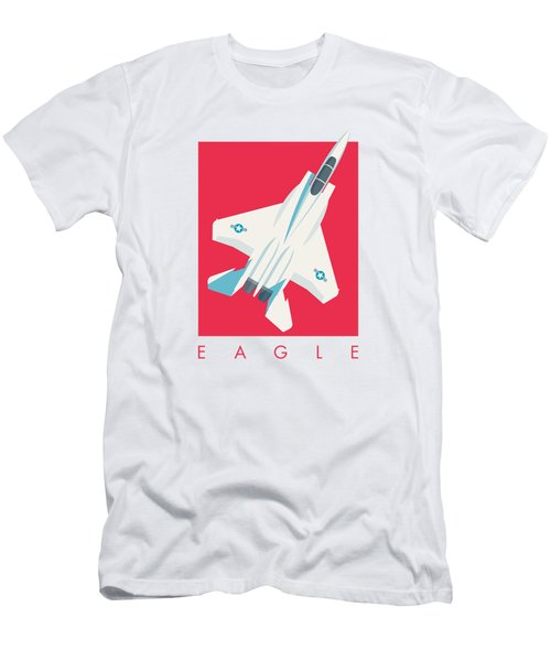 F15 Eagle Fighter Jet Aircraft - Crimson Men's T-Shirt (Athletic Fit)