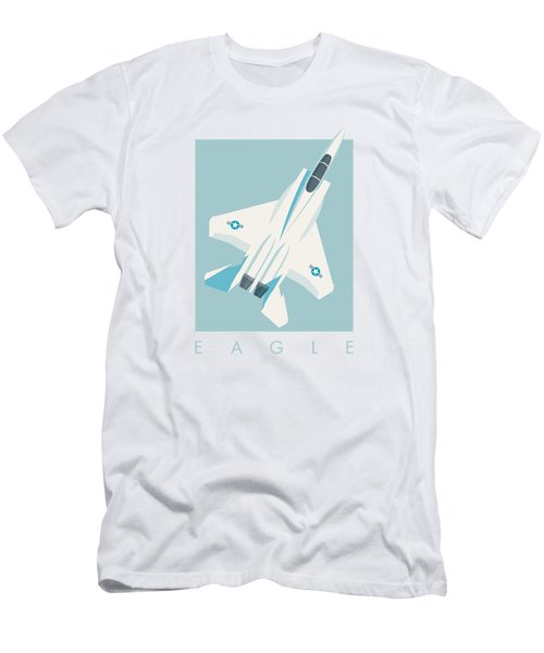 F15 Eagle Fighter Jet Aircraft - Sky Men's T-Shirt (Athletic Fit)