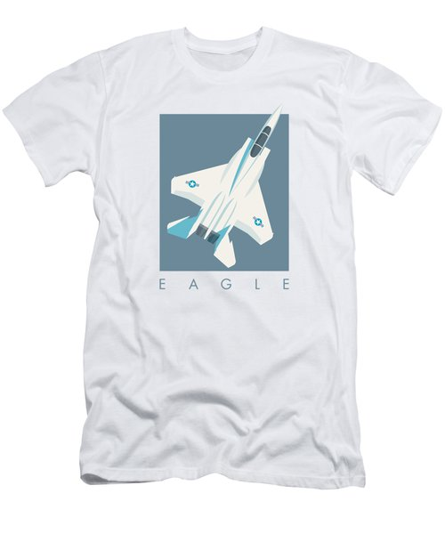 F15 Eagle Fighter Jet Aircraft - Slate Men's T-Shirt (Athletic Fit)