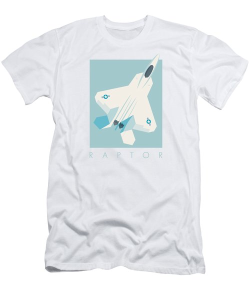 F22 Raptor Jet Fighter Aircraft - Sky Men's T-Shirt (Athletic Fit)