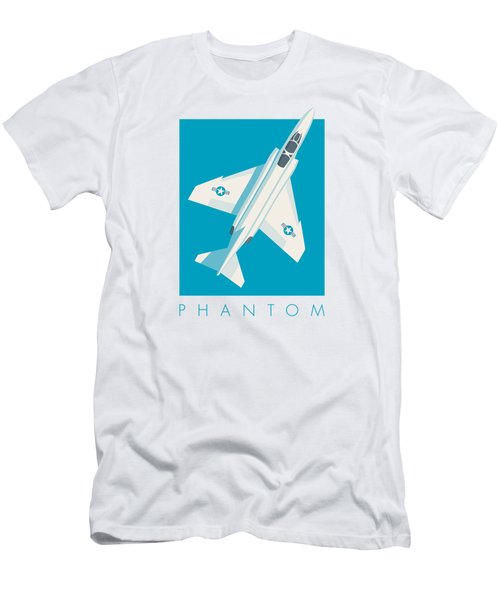 F4 Phantom Jet Fighter Aircraft - Cyan Men's T-Shirt (Athletic Fit)