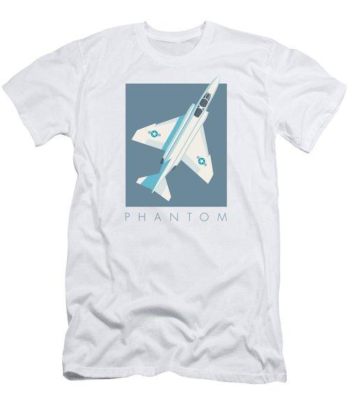 F4 Phantom Jet Fighter Aircraft - Slate Men's T-Shirt (Athletic Fit)