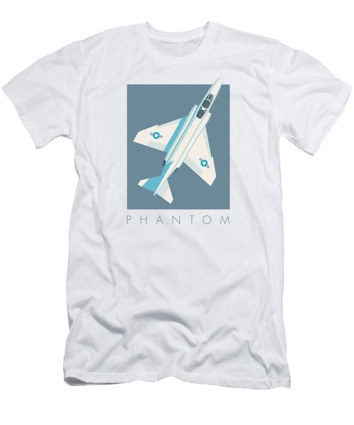 F4 Phantom Jet Fighter Aircraft - Slate Men's T-Shirt (Athletic Fit)
