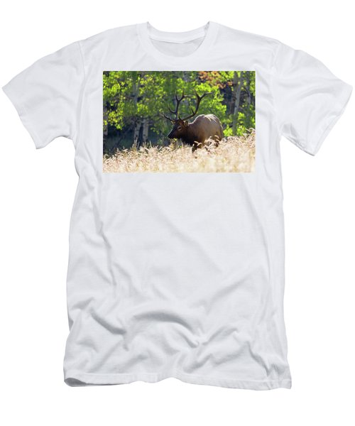 Fall Color Rocky Mountain Bull Elk Men's T-Shirt (Athletic Fit)