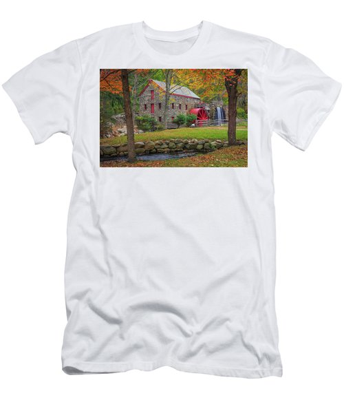 Fall Foliage At The Grist Mill Men's T-Shirt (Athletic Fit)